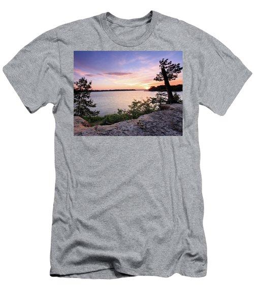 Quiet Waters Crop Men's T-Shirt (Slim Fit) by Jennifer Casey