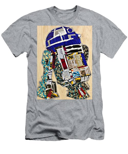 Men's T-Shirt (Athletic Fit) featuring the tapestry - textile R2-d2 Star Wars Afrofuturist Collection by Apanaki Temitayo M