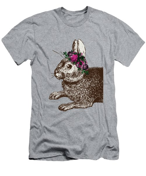 Rabbit And Roses Men's T-Shirt (Athletic Fit)