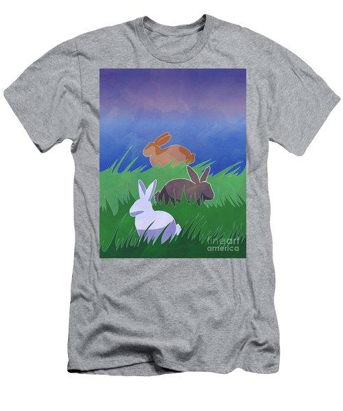 Rabbits Rabbits Rabbits Men's T-Shirt (Slim Fit) by Whitney Morton