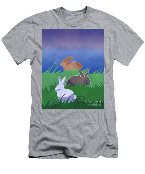 Rabbits Rabbits Rabbits Men's T-Shirt (Athletic Fit)
