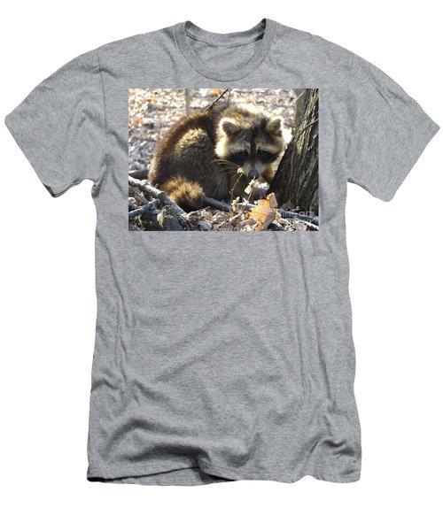 Raccoon Men's T-Shirt (Slim Fit) by Erick Schmidt