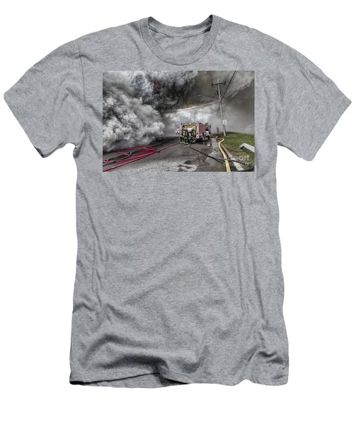 Men's T-Shirt (Slim Fit) featuring the photograph Raging Inferno by Jim Lepard