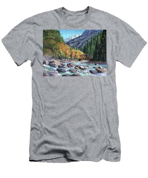 Rail Bridge At Cascade Men's T-Shirt (Athletic Fit)
