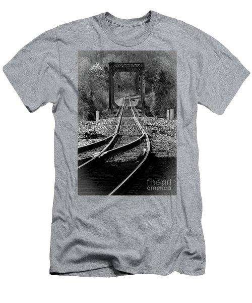 Men's T-Shirt (Slim Fit) featuring the photograph Rails by Douglas Stucky