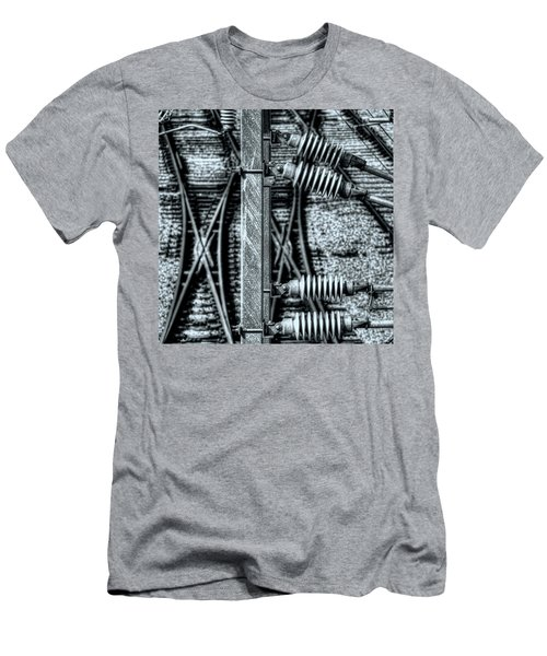Men's T-Shirt (Slim Fit) featuring the photograph Railway Detail by Wayne Sherriff