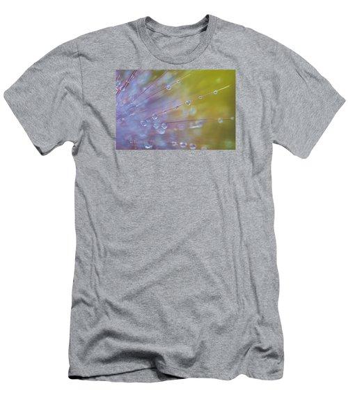 Men's T-Shirt (Slim Fit) featuring the photograph Rain Drops - 9753 by G L Sarti