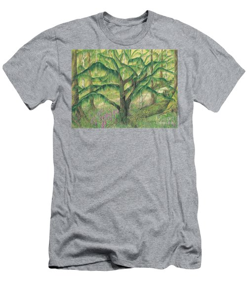 Rain Forest Washington State Men's T-Shirt (Athletic Fit)