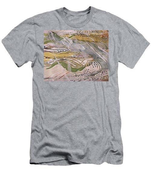Rain In The  Valley Men's T-Shirt (Slim Fit) by Nancy Kane Chapman