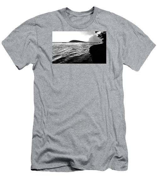 Men's T-Shirt (Athletic Fit) featuring the photograph Rain On Sea And Shore by Julian Cook