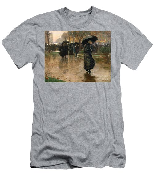 Rain Storm Union Square Men's T-Shirt (Athletic Fit)