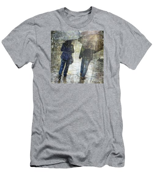 Rain Through The Fountain Men's T-Shirt (Slim Fit) by LemonArt Photography