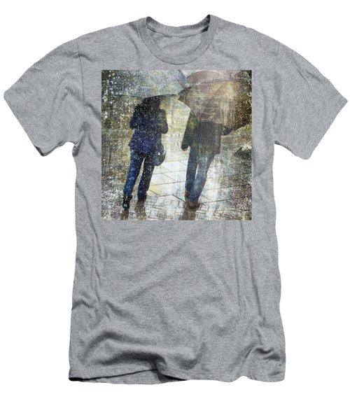 Rain Through The Fountain Men's T-Shirt (Athletic Fit)