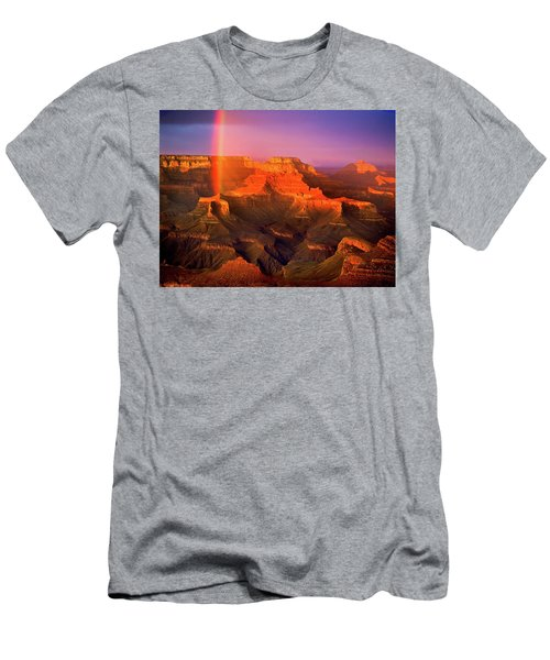 Rainbow At The Grand Canyon Men's T-Shirt (Athletic Fit)