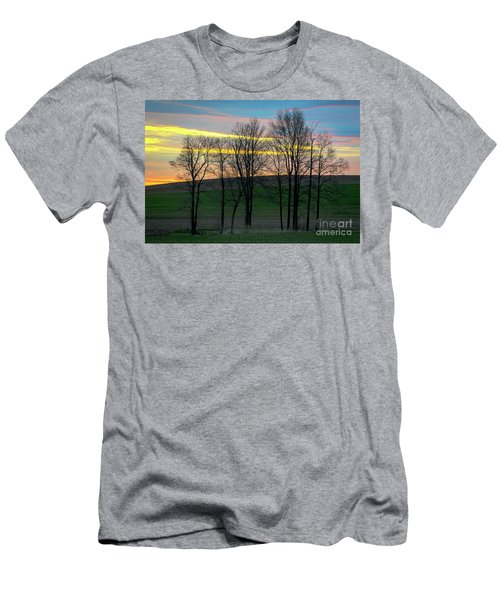 Rainbow Color Tree Horizon Men's T-Shirt (Athletic Fit)