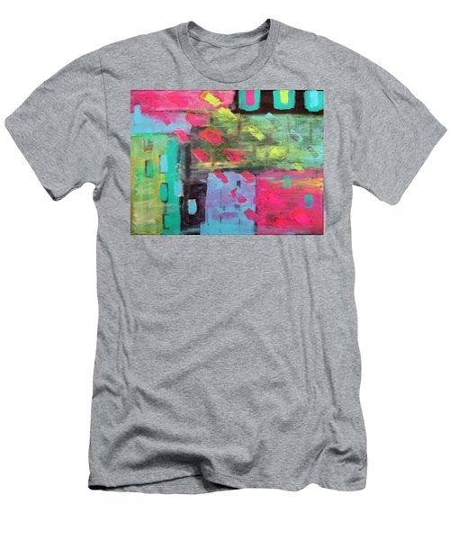 Rainbow Rain Men's T-Shirt (Athletic Fit)