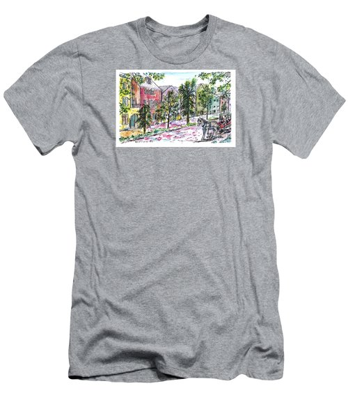Rainbow Row Men's T-Shirt (Athletic Fit)