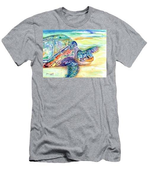 Rainbow Sea Turtle 2 Men's T-Shirt (Athletic Fit)