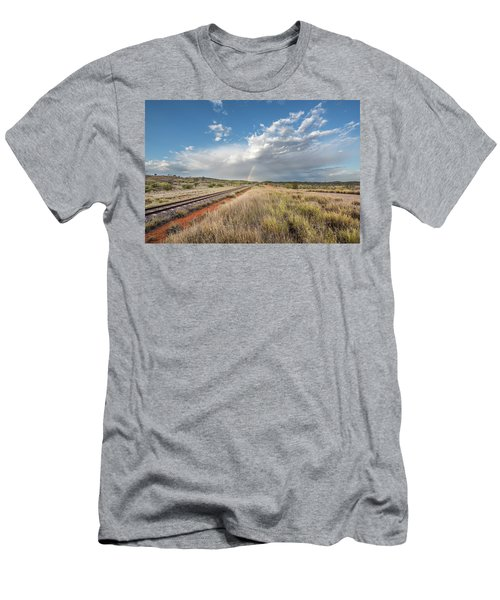 Rainbows Over Ghan Tracks Men's T-Shirt (Athletic Fit)