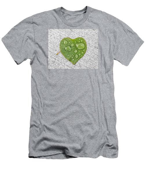 Raindrop Reflections Men's T-Shirt (Slim Fit) by Allan Levin