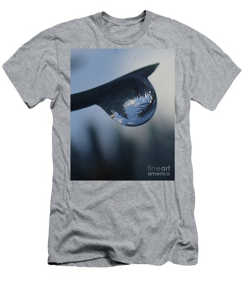 Men's T-Shirt (Slim Fit) featuring the photograph Raindrop World by Christina Verdgeline