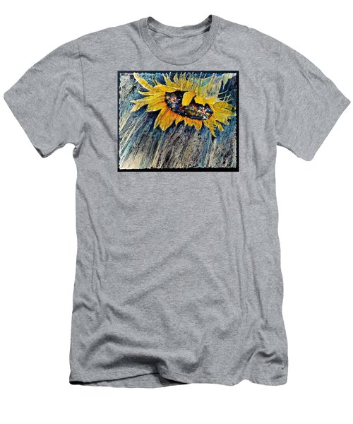Men's T-Shirt (Slim Fit) featuring the painting Rainswept by Carolyn Rosenberger