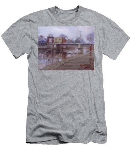 Rainy Day At Tonawanda Canal Men's T-Shirt (Athletic Fit)