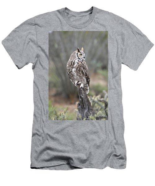 Rainy Day Owl Men's T-Shirt (Athletic Fit)