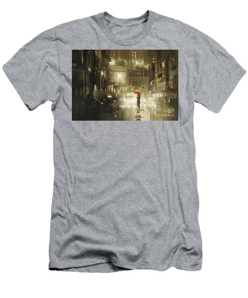 Rainy Night Men's T-Shirt (Athletic Fit)