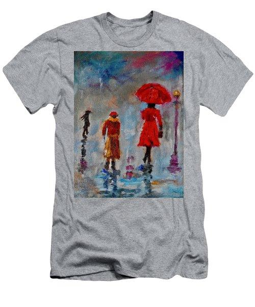 Rainy Spring Day Men's T-Shirt (Slim Fit) by Sher Nasser