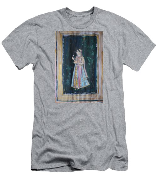 Men's T-Shirt (Slim Fit) featuring the painting Raj Kumari by Vikram Singh
