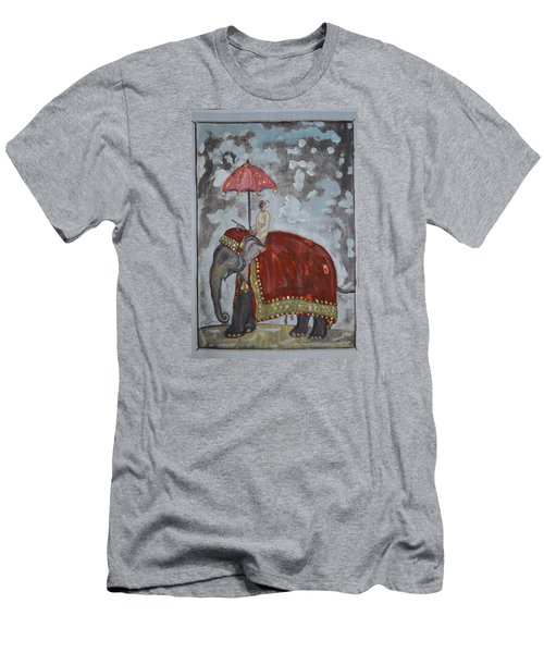 Men's T-Shirt (Slim Fit) featuring the painting Rajasthani Elephant by Vikram Singh