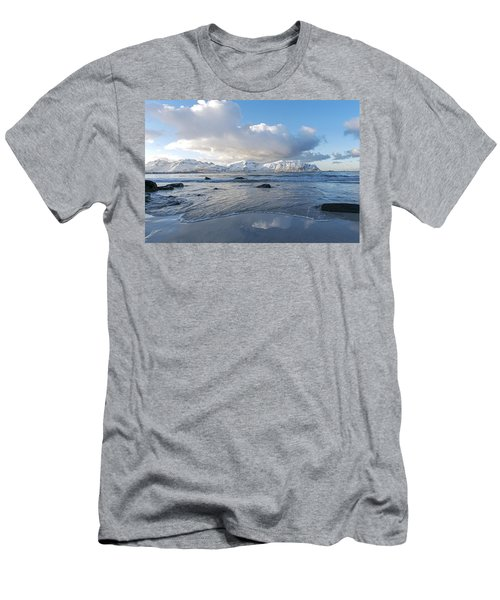 Ramberg Beach, Lofoten Nordland Men's T-Shirt (Slim Fit) by Dubi Roman