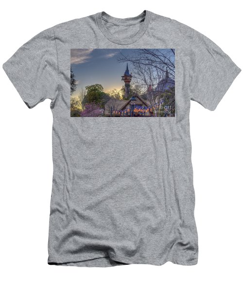 Rapunzel's Tower At Sunset Men's T-Shirt (Athletic Fit)