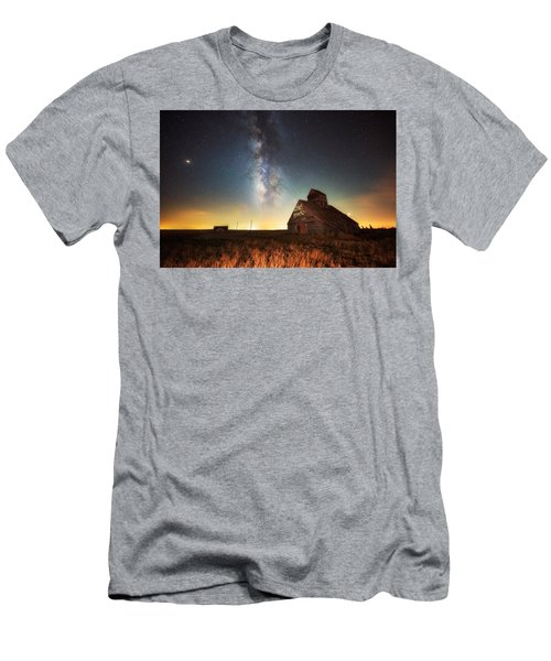 Men's T-Shirt (Athletic Fit) featuring the photograph Rattlesnake Silo Barn by Russell Pugh