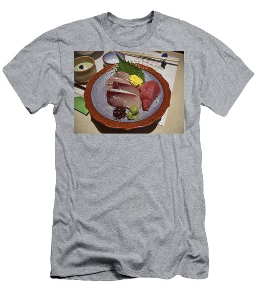 Raw Fish Sashimi Plate - Kyoto Japan Men's T-Shirt (Athletic Fit)
