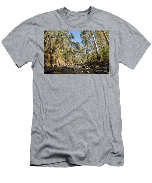 Men's T-Shirt (Athletic Fit) featuring the photograph Reaching Skyward by Linda Lees