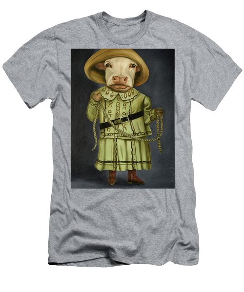 Real Cowgirl 2 Men's T-Shirt (Slim Fit) by Leah Saulnier The Painting Maniac