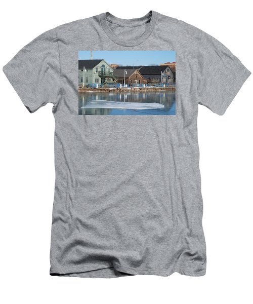 Remains Of The Old Fishing Village Men's T-Shirt (Slim Fit) by Janice Adomeit