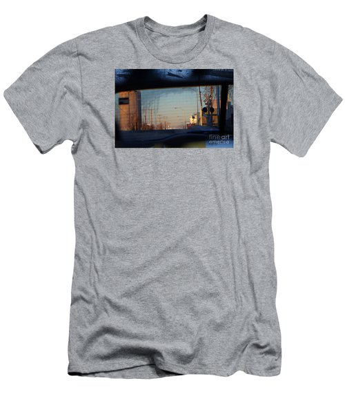 Men's T-Shirt (Slim Fit) featuring the digital art Rear View 2 - The Places I Have Been by David Blank