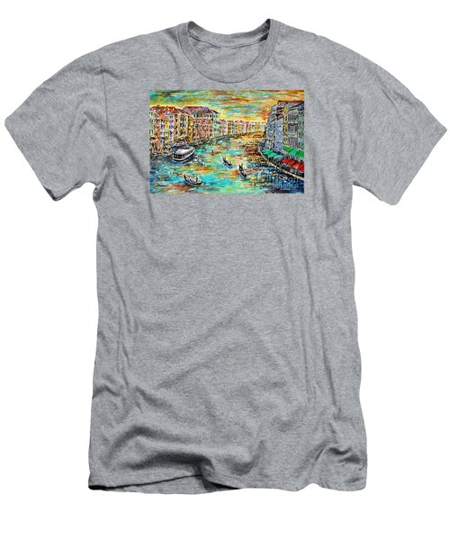 Men's T-Shirt (Slim Fit) featuring the painting Recalling Venice by Alfred Motzer