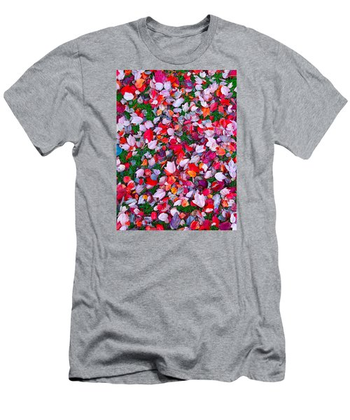 Red And Green Leaves Men's T-Shirt (Athletic Fit)