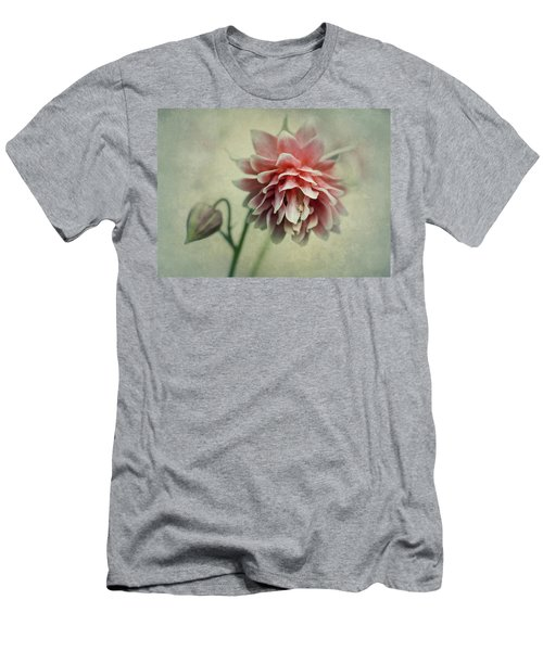 Men's T-Shirt (Athletic Fit) featuring the photograph Red And Pink Columbine by Jaroslaw Blaminsky
