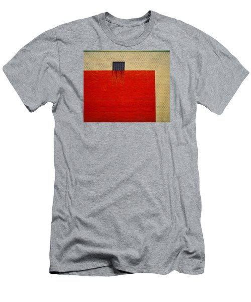 Red And Yellow Wall Men's T-Shirt (Athletic Fit)