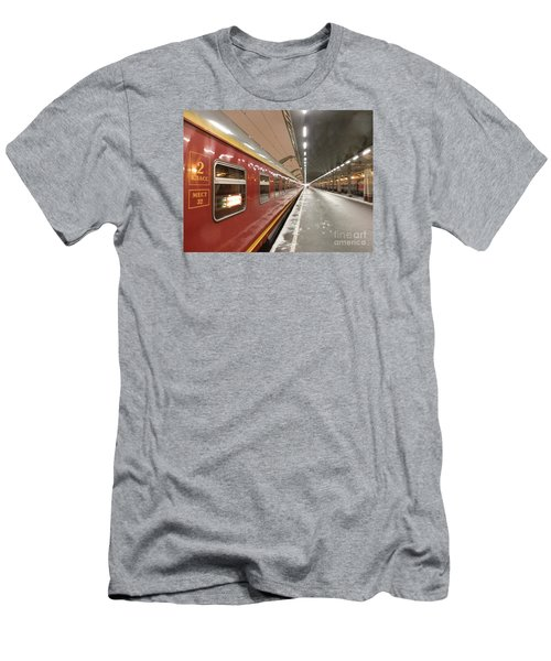 Red Arrow Express Men's T-Shirt (Slim Fit) by Margaret Brooks