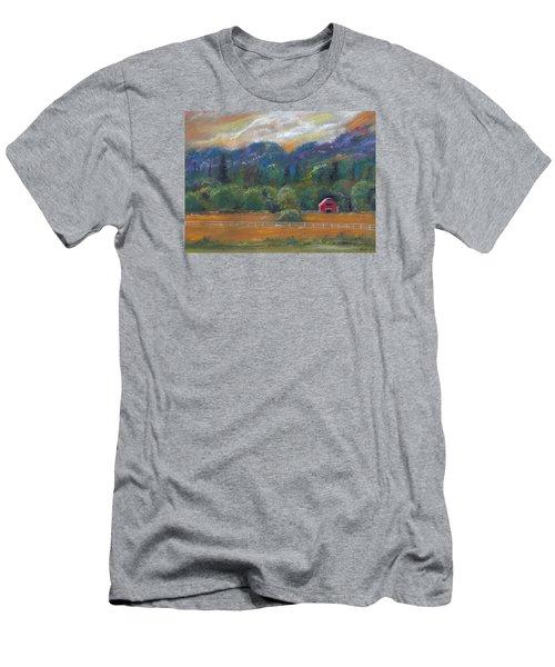 Red Barn Men's T-Shirt (Slim Fit) by Clara Sue Beym