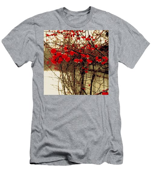 Red Berries In Winter Men's T-Shirt (Athletic Fit)