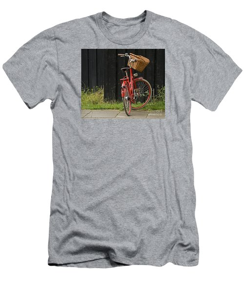 Men's T-Shirt (Slim Fit) featuring the photograph Red Bike by Inge Riis McDonald