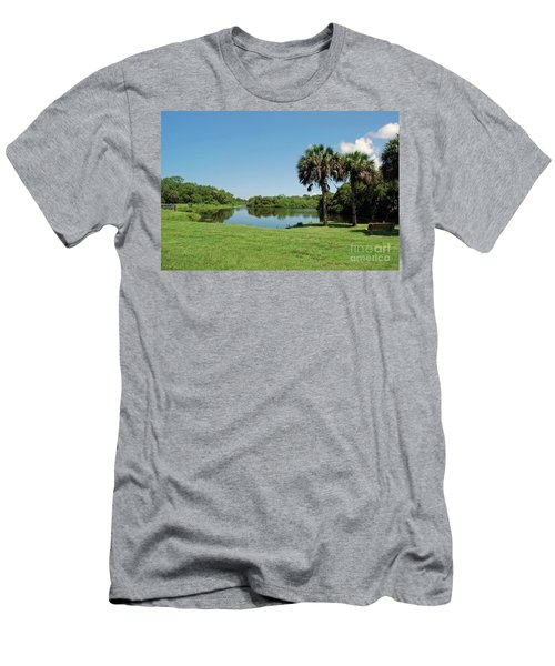 Men's T-Shirt (Athletic Fit) featuring the photograph Red Bug Slough by Gary Wonning