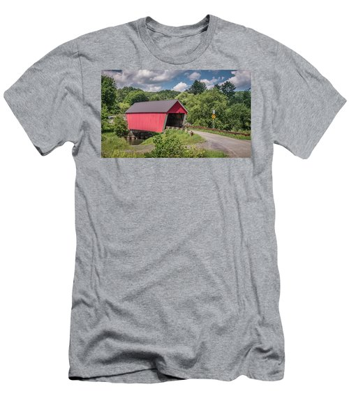 Red Covered Bridge Men's T-Shirt (Athletic Fit)